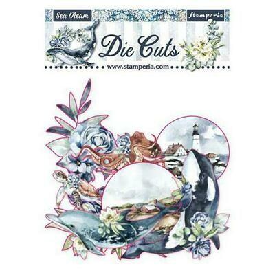 Stamperia Die cuts - Romantic collection - Sea Dream