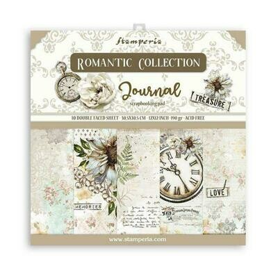 Romantic Collection - Journal - Stamperia Double-sided Cardstock 12