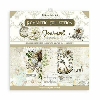Romantic Collection - Journal - Stamperia Double-sided Cardstock 8