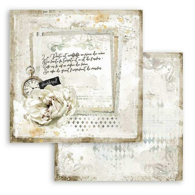 """Romantic Collection - Journal - Stamperia Double-sided Cardstock 12""""x12"""""""
