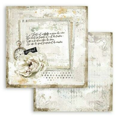 Romantic collection - Journal - Stamperia Dpible-sided Cardstock 12