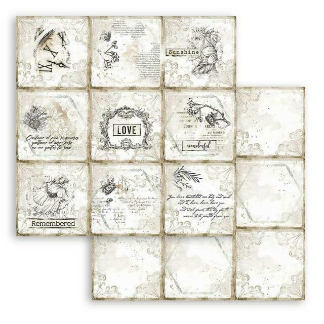 """Romantic Collection - Journal - Cads - Stamperia Double-sided Cardstock 12""""x12"""""""