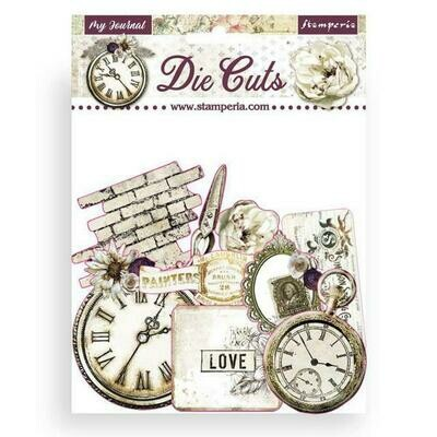 Stamperia Die cuts - Romantic Collection - Journal