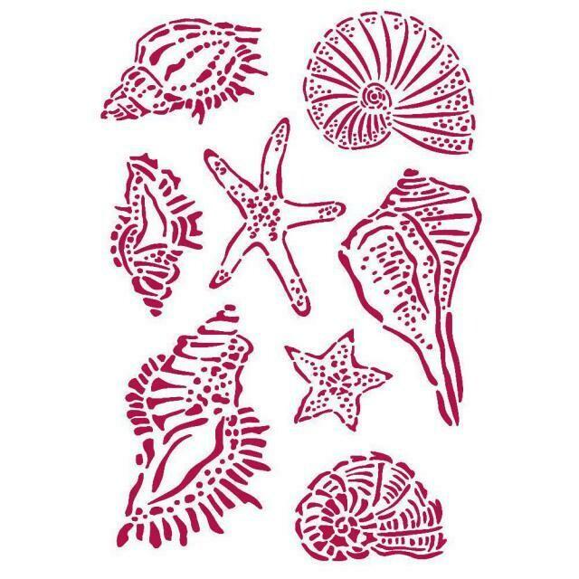Stamperia Stencil 21x29,7 cm - Romantic Collection - Sea Dream - Shells