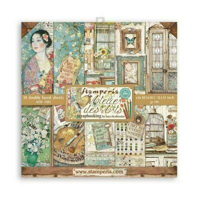 Atelier de arts - Stamperia Double-sided Cardstock 12