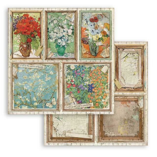 """Atelier des arts - Cards - Stamperia Double-sided Cardstock 12""""x12"""""""