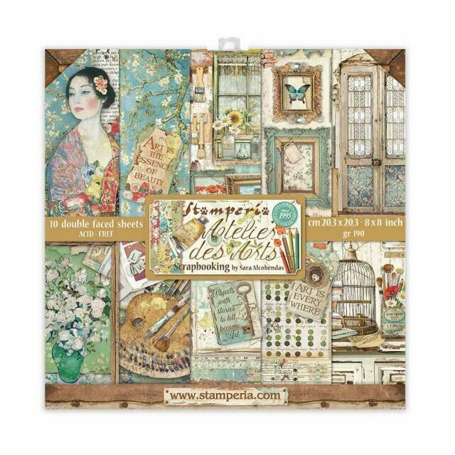 """Atelier des arts - Stamperia Double-sided Cardstock 8""""x8"""""""
