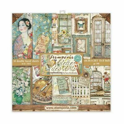 Atelier des arts - Stamperia Double-sided Cardstock 8