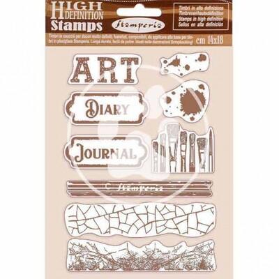 HD Rubber stamps 14x18cm - Atelier des arts - Art