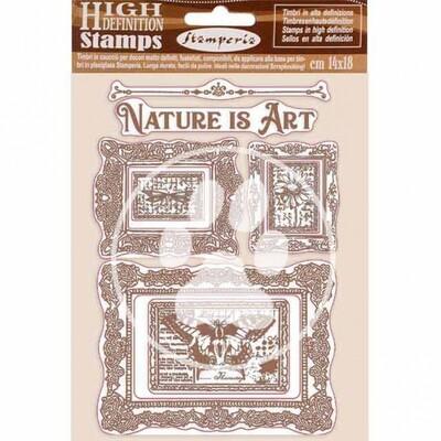 HD Natural Rubber Stamp 14x18 cm - Atelier des arts - Nature is Art frames