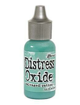 Tim Holtz Distress® Oxide® Ink Pad Re-Inker - Salvaged Patina