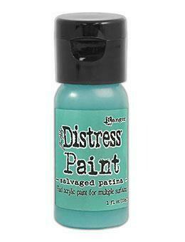 Tim Holtz Distress® Flip Top Paint - Salvaged Patina