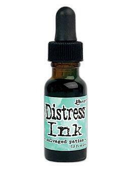 Tim Holtz Distress® Ink Pad Re-Inker - Salvaged Patina