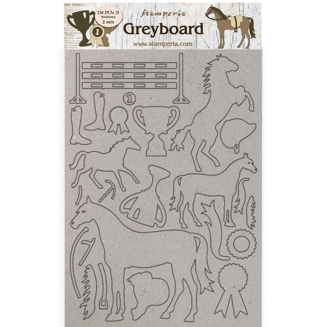 Stamperia - Romantic Collection - Horses - A4 Greyboard 2mm - Trophy