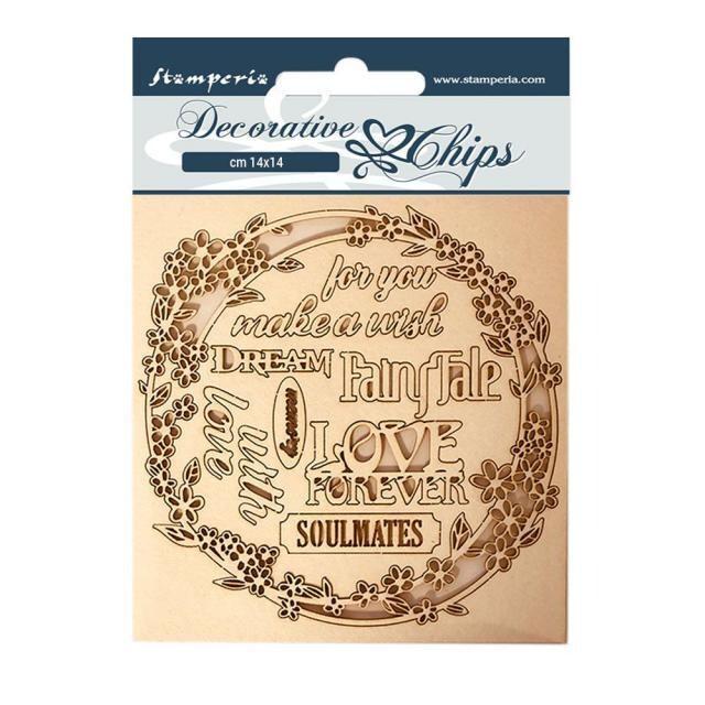 Stamperia - Decorative Chips - 14x14cm - Sleeping Beauty - Garland Love