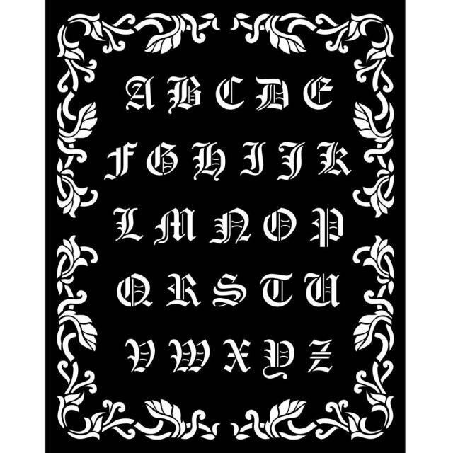 Stamperia - Thick Stencil - 20x25 cm - Sleeping Beauty - Alphabet