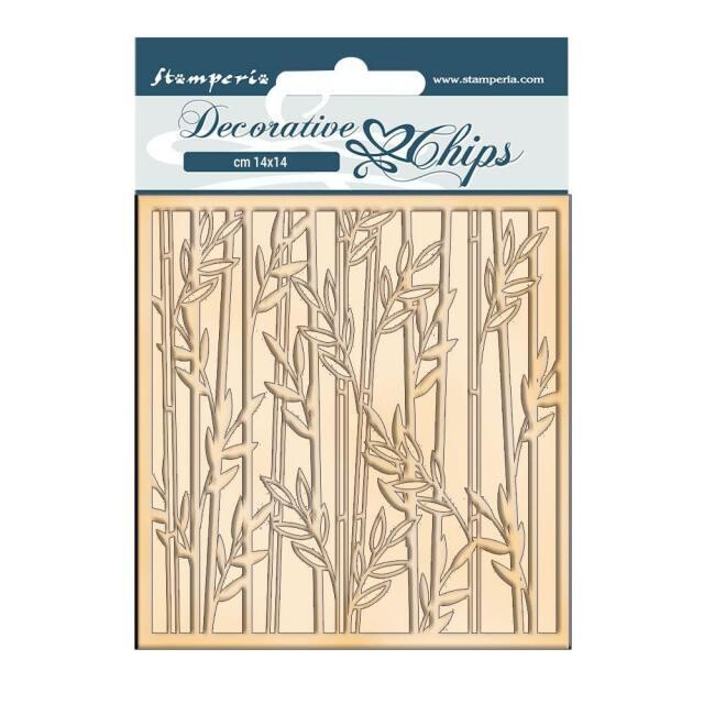 Stamperia - Decorative Chips - 14x14cm - Sir Vagabond in Japan - Bamboo