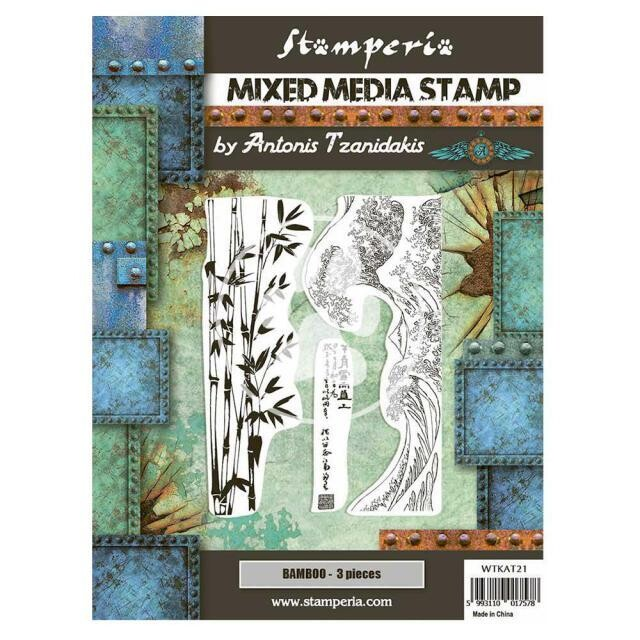 Mixed Media Stamp - 15x20cm -  Sir Vagabond in Japan - Bamboo