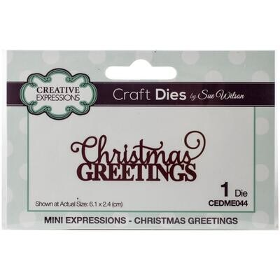 Creative Expressions Craft Dies - Christmas Greetings