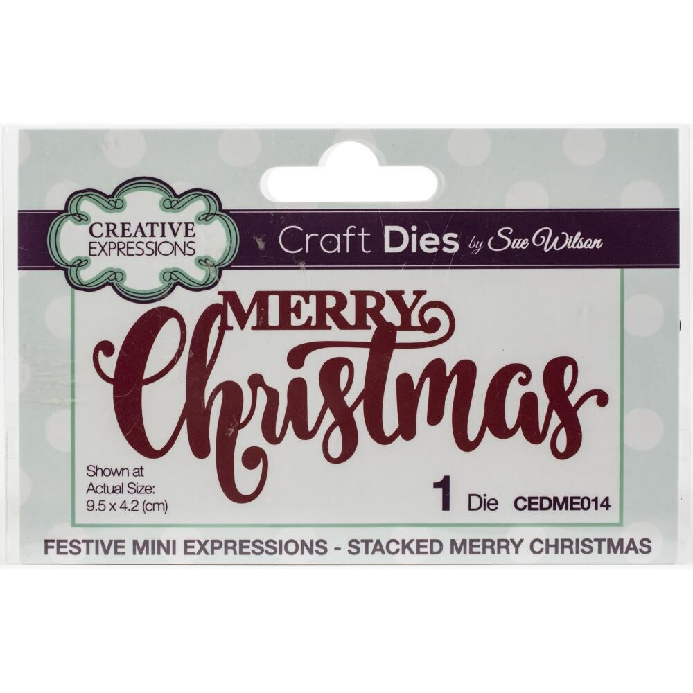 Creative Expressions Craft Dies - Stacked Merry Christmas