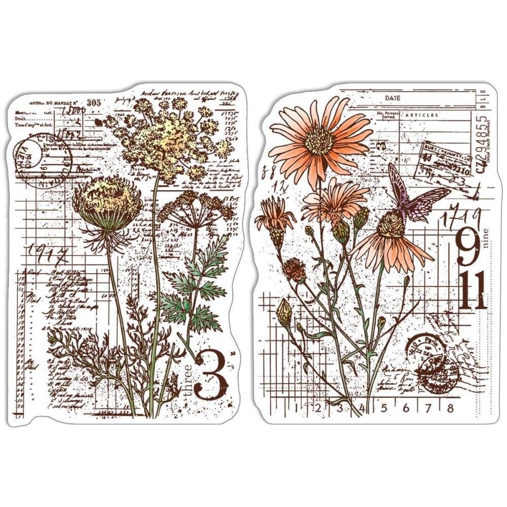 """Ciao Bella - Clear Stamps 4""""x6"""" - Botanical & Postmarks"""