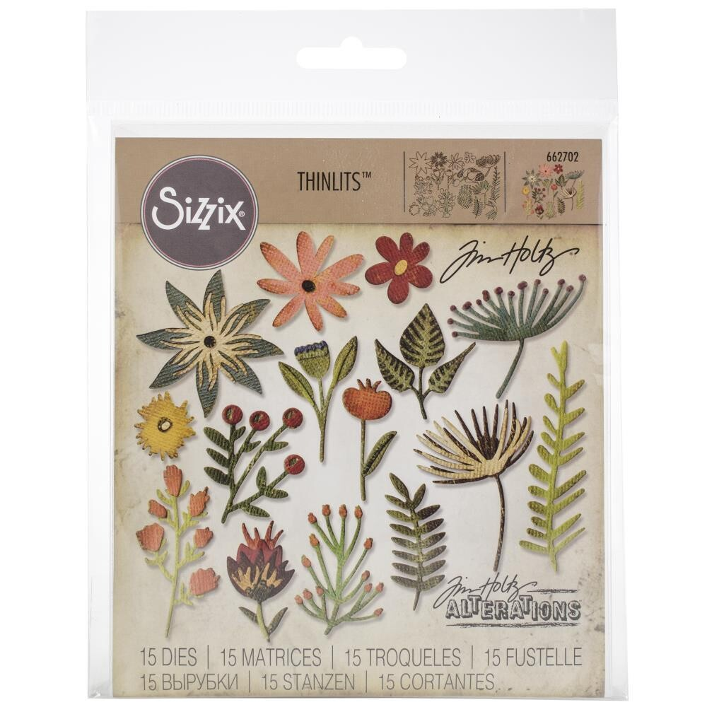 Sizzix Thinlits Dies By Tim Holtz - Funky floral #3