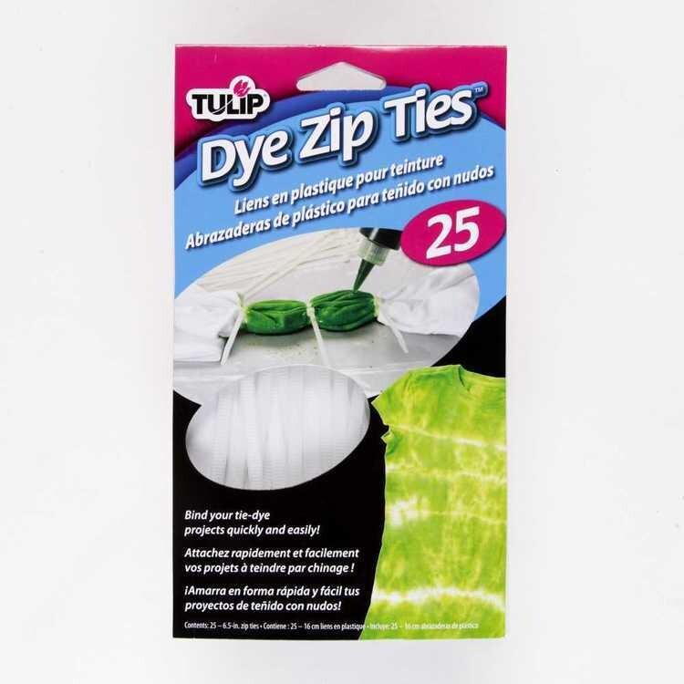 Tulip Dye Zip Ties