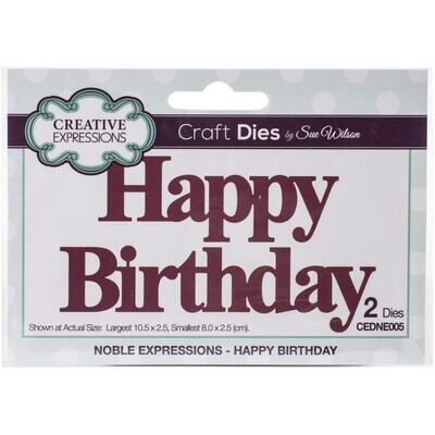 Creative Expressions Craft Dies - Noble Expressions - Happy Birthday