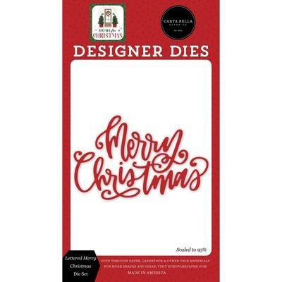 Carta Bella Die - Lettered Merry Christmas