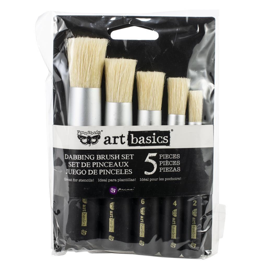 Finnabair Art Basics Dabbing Brush Set - 5pce
