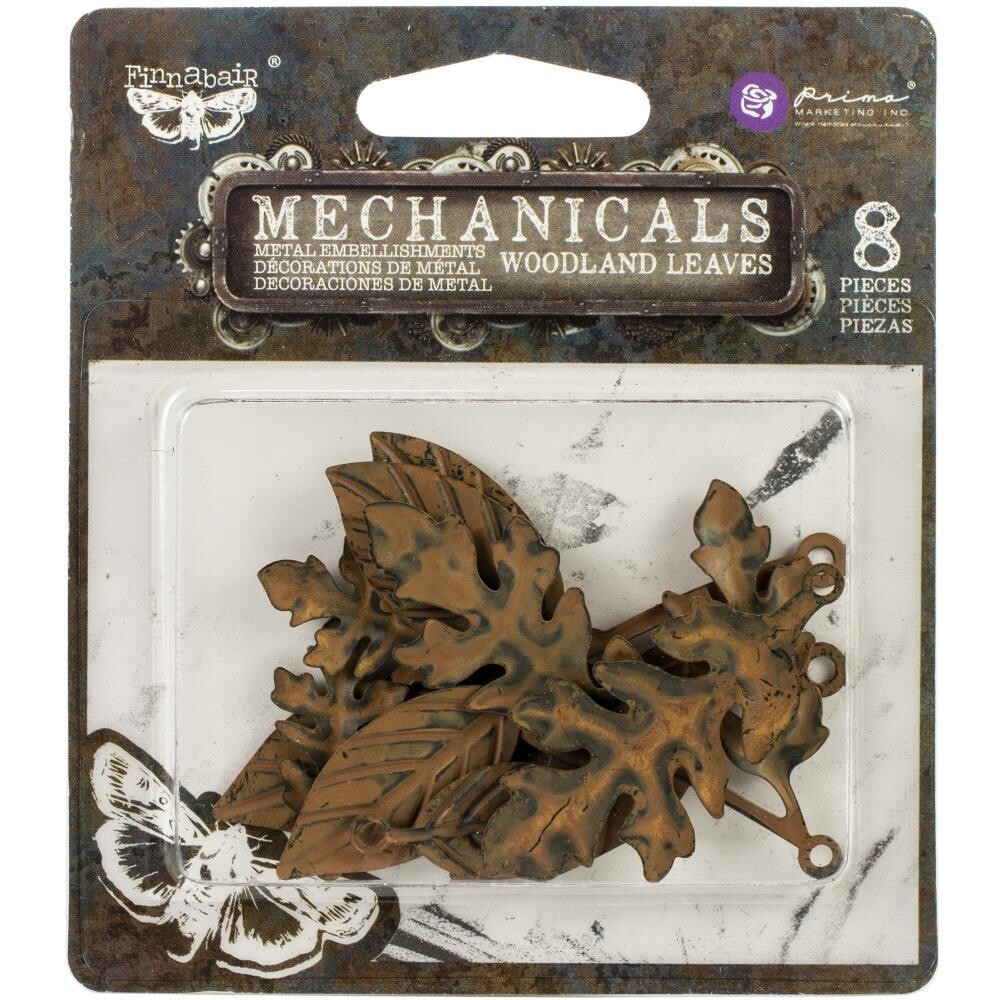 Prima Marketing - Finnabair Mechanicals - Metalware -Woodland Leaves