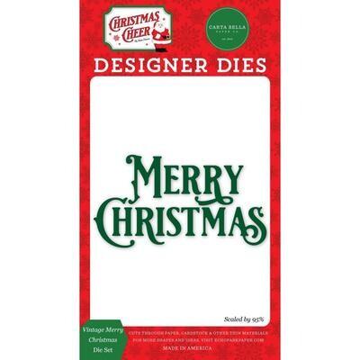 Carte Bella Dies - Vintage Merry Christmas