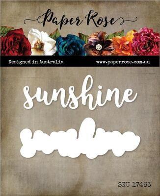 Paper Rose - Sunshine - Layered Metal Word Die