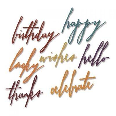 Sizzix - Thinlits - Handwritten - Celebrate