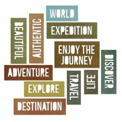 Sizzix - Thinlits - Block - Adventure Words