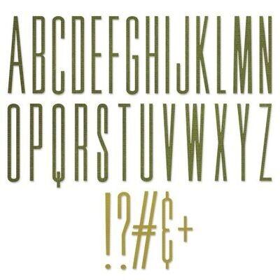 Sizzix - Thinlits - Alphanumeric - Stretch Upper