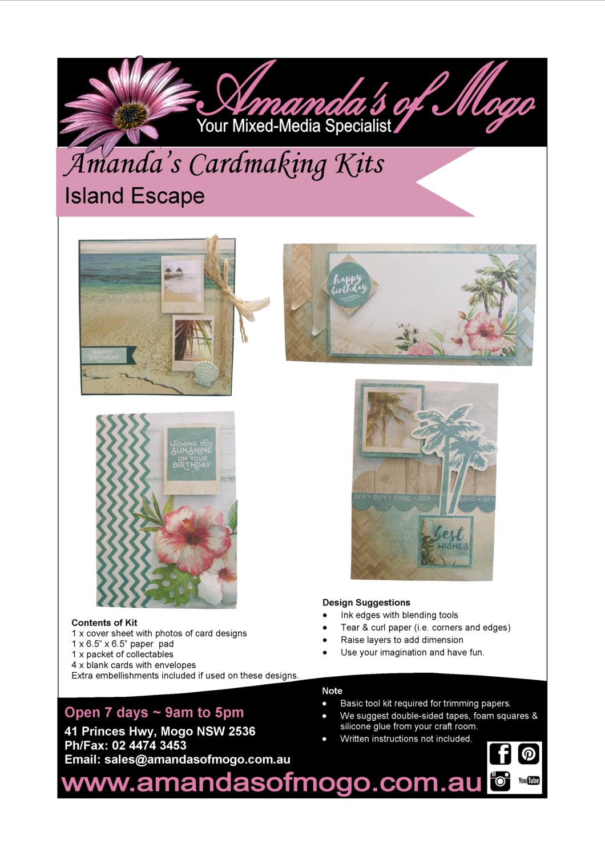 Island Escape Kaisercraft Cardmaking Kit