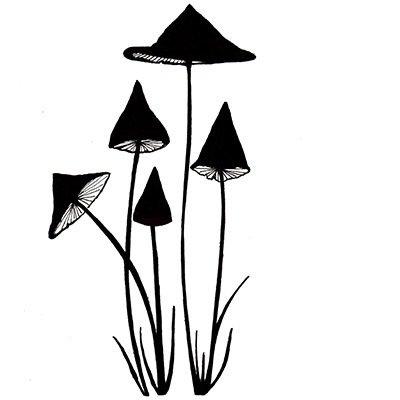 Lavinia Stamps - Slender Mushrooms Stamp