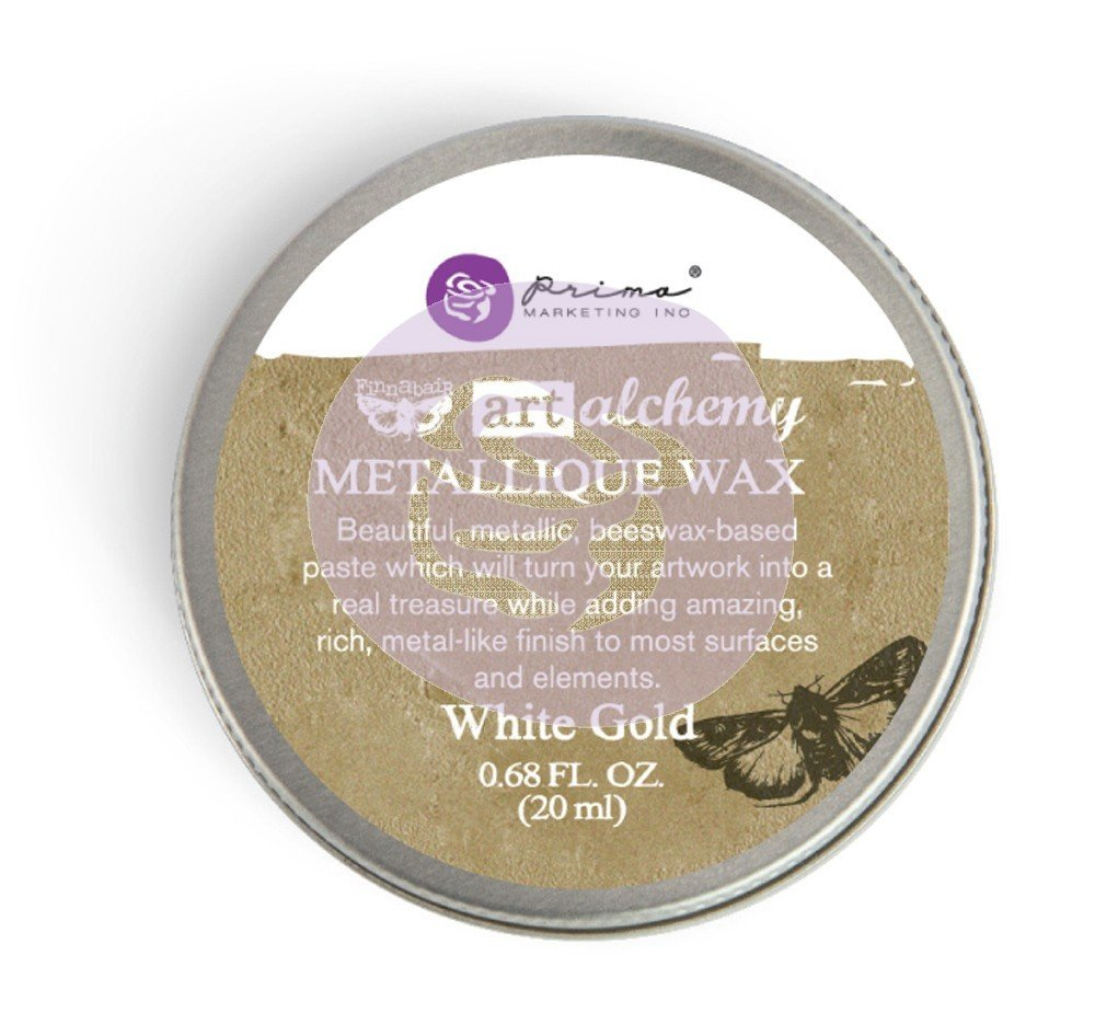 Art Alchemy - Metallique Wax - White Gold
