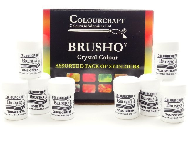 Brusho Colours Assorted - 8 x 15g Pack