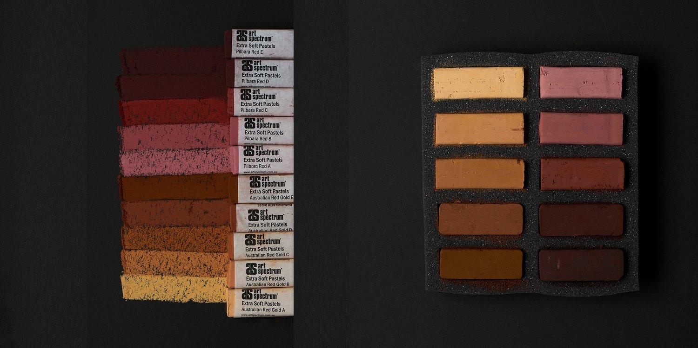 Art Spectrum Extra Soft Square Pastels - Australian Earths - Set of 10