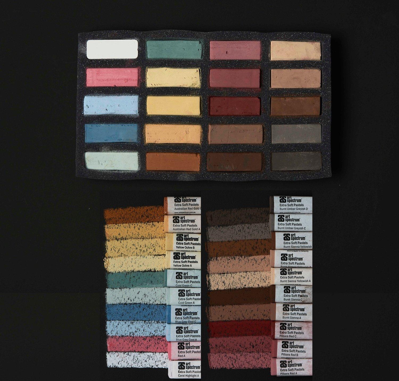 Art Spectrum Extra Soft Square Pastels - Portrait - Set of 20