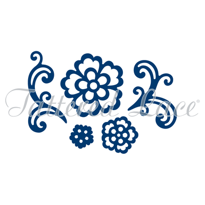 Tattered Lace - Floral Flourish & Lacy Rose Die