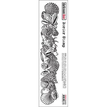 Darkroom Door Seashells Border Stamp