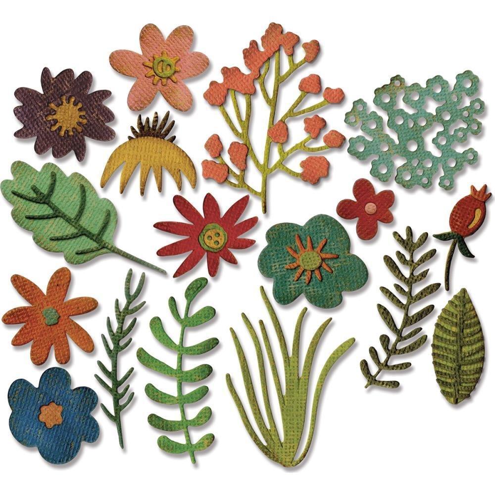 Tim Holtz Sizzix Thinlits Dies - Funky Floral 1