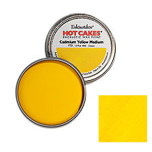 Enkaustikos Hot Cakes - Cadmium Yellow Medium 1.5oz - Encaustic Wax Paint