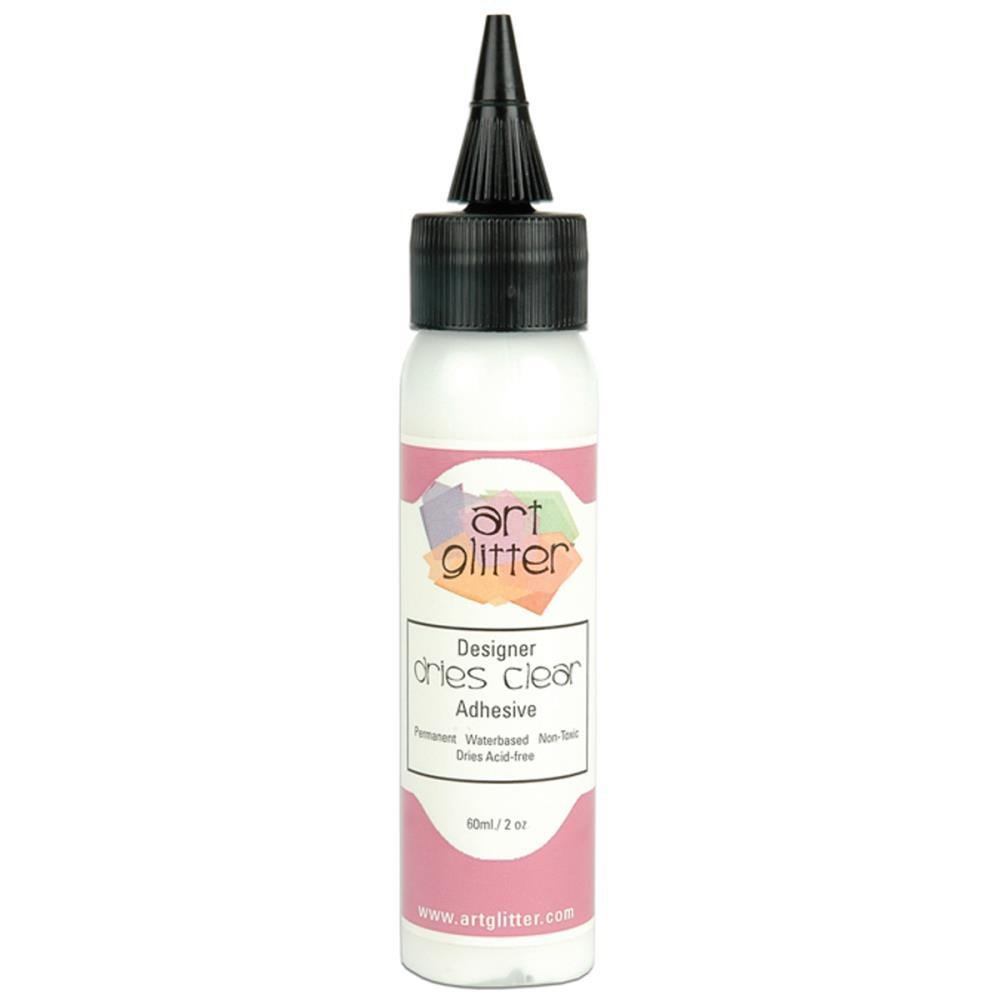 Art Institute Glitter Design Glue - Dries Clear Adhesive 60ml