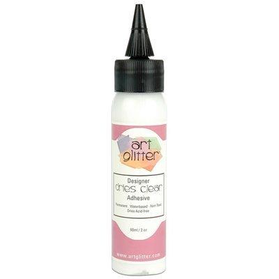 Art Institute Glitter Design Glue - Dries Clear Adhesive 60ml