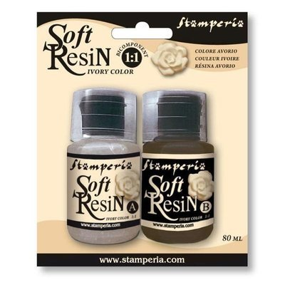 Stamperia Soft Resin - Ivory Colour 80ml