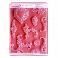 Stamperia Soft Maxi Moulds - Volutes